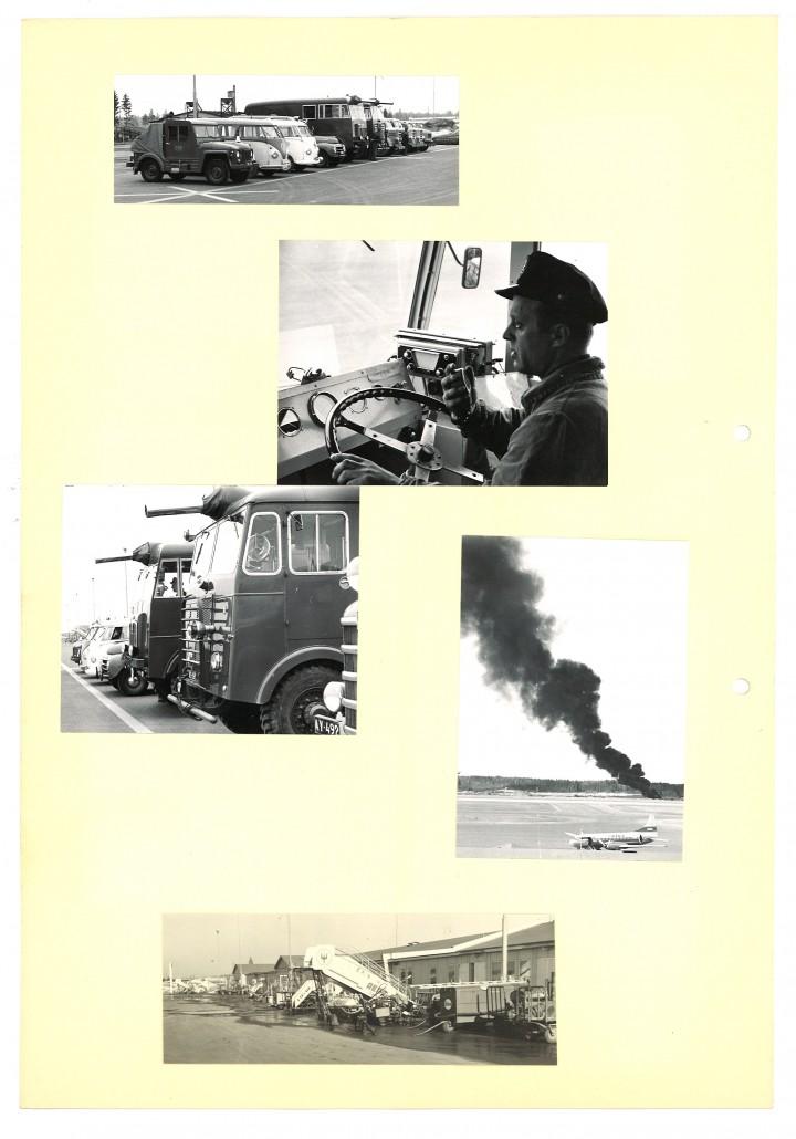 Saaren kuviin on tallentunut Helsingin lentoaseman, tuttavallisemmin Seutulan, arkipäivää  vuosikymmenien varrelta. Tämä albumilehti sisältää palokaluston toiminnan esittelyä.