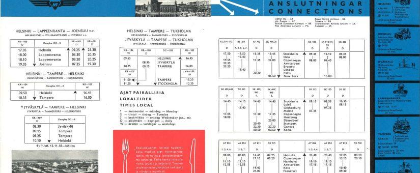 Lentoaikataulut historian lähteinä -oppimateriaali julkaistu Avointen oppimateriaalien kirjastossa